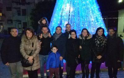 Ad Alcamo l'albero di Natale ecologico che fa del bene